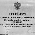 Honorata Krawczykowska ,stopień doktora
