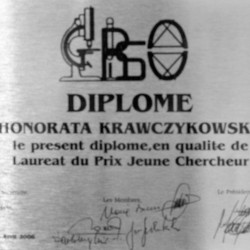 Dyplom laureata du Prix Jeune Chercheur