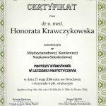 Krawczykowska - protezy hybrydowe w leczeniu protetycznym