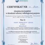 dr Grabowska certyfikat