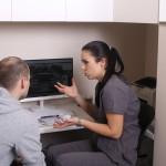 RTG, konsultacja z pacjentem