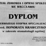 Honorata Krawczykowska, specjalizacja, dobry dentysta Wrocław