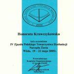 certyfikat - zjazd towarzystwa dysfunkci narzadu zucia