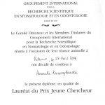 laureat du Prix Juene Chercheur