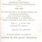 laureat nagrody Juene Chercheur